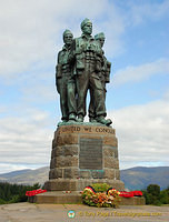Commando Memorial unveiled by the Queen Mother in 1952