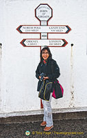Me at the substitute John O'Groats signpost