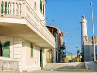 Montalbano's beachfront house & lighthouse
