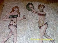 Athletic girls at Villa Romana del Casale