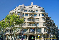 La Pedrera meaning the Quarry is another Gaudi's designs