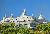 Casa Mila chimneys are known as espanta bruixes or witch scarers