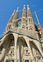 Passion facade of Sagrada Familia