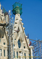 Glory Facade - Nearly 130 years on, work is still continuing on the Sagrada Familia