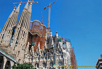 One of the views of Sagrada Familia