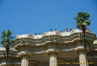 The plaza area of Parc Guell