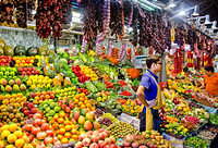 For an idea of how huge La Boqueria is, there are 66 fruit and vegetable stalls