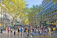 Las Ramblas is busy around the clock