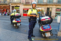 The Guardia Urbana on Las Ramblas
