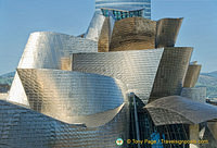 Guggenheim Bilbao: The random curves are designed to catch the light
