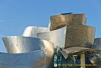 Guggenheim Bilbao: Every section of the building looks like a piece of artwork on its own
