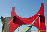 The Red Arches are a brilliant contrast to Bilbao's blue skies