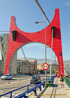 Guggenheim Bilbao: Red Arches on La Salve Bridge