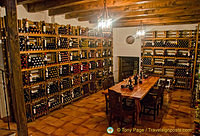 The wine cellar in the Asador cafeteria