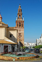 The Church of San Pedro tower resembles the Giralda in Seville