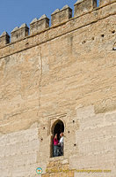 It's possible to visit the upper levels of the Puerta de Seville