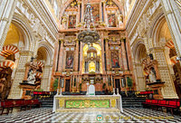 Close up of Cathedral of Cordoba High Altar