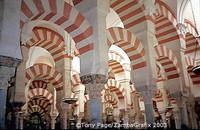 Stunning arches and pillars of the Mezquita - Cordoba - Spain