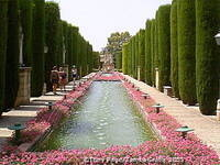 Alcazar de los Reyes Cristianos - water terraces adding to the tranquility of the gardens 