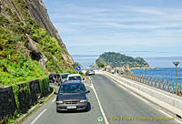 Driving along the coast of Guipuzcoa