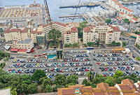 Aerial view of Gibraltar port area