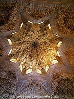 The geometrical ceiling pattern of the Sala de los Abencerrajes