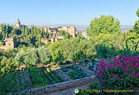 Palace of the Generalife: View of Albaycin