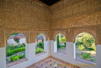 Palace of the Generalife: Court of the Main Canal - west observation point