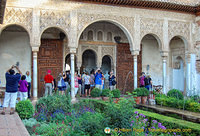Palace of the Generalife: North pavillion archways