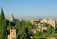 Generalife: View of the Alhambra palace