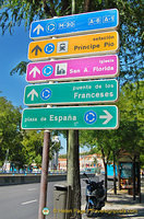 Madrid travel signpost
