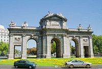 Puerta de Alcala - a former gateway into the city