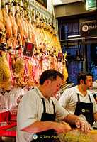 A serious jamon shop