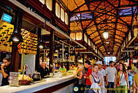 Visitors at the Mercado de San Miguel