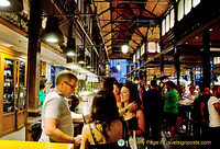 Crowd scene at the Mercado San Miguel