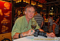 Tony enjoying his wine from Bodega