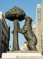 The bear and the strawberry tree - a symbol of Madrid