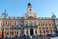 The old Royal Post Office (Real Casa de Correos) is now the office of the President of Madrid