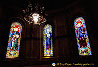 Beautiful stained glass of Montserrat Basilica