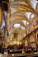 Interior of the Montserrat basilica
