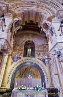 Above the altar is the Niche where the Black Madonna is kept.