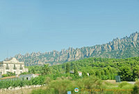 The Montserrat mountain range