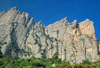 The magnificent Montserrat or Serrated Mountain