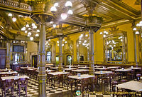 Inside the Cafe Iruña