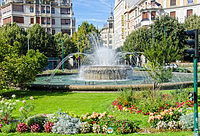 Pamplona fountain