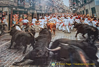 Image of the Running of the Bulls