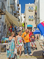 The street up to Peñíscola Castle is lined with shops and restaurants