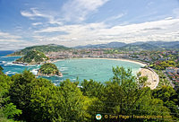 La Concha Bay - San Sebastian's famous shell-shaped bay