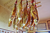Jamón ibérico - usually stored hanging
