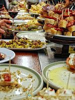 Great selection of pintxos at Casa Alcalde